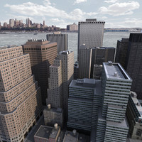 lower manhattan district buildings 3d 3ds