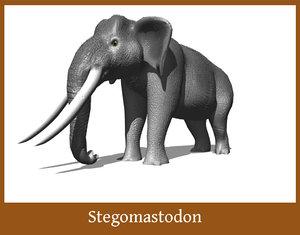 stegomastodon mastodon 3d obj