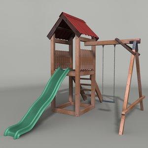 swing slide 3d max