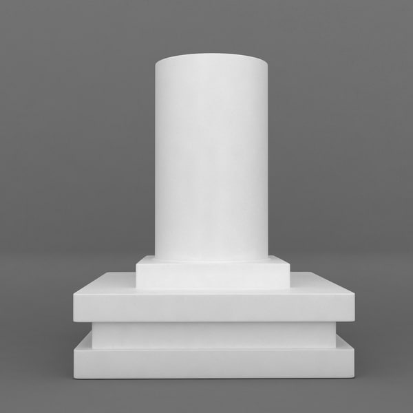 square base printable pedestal 3d model