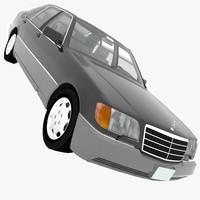 mercedes-benz 600sel v140 1991 3d obj