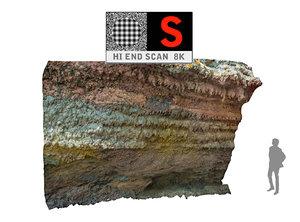 realistic lava cliff obj