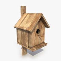 birdhouse modeled 3d model