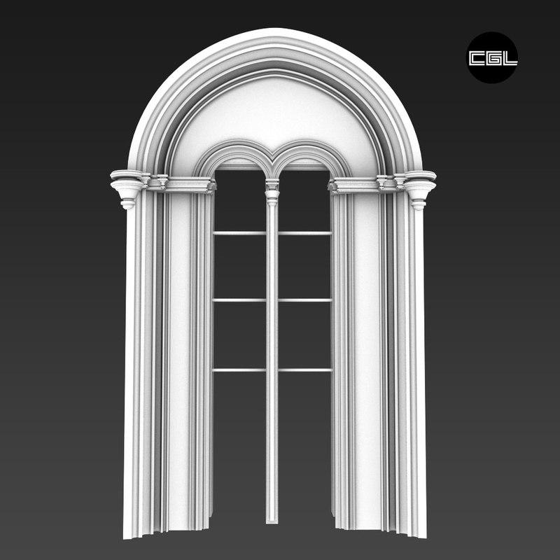 castle window 3d max