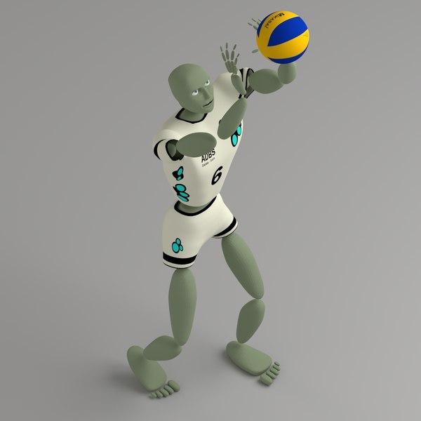 free abstract humanoid ballerkin sport 3d model
