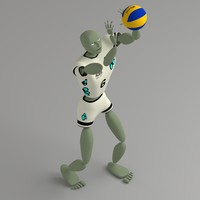 free abstract humanoid ballerkin sport 3d model
