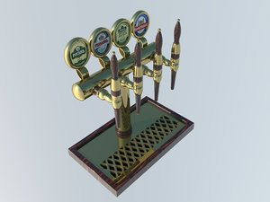 equipment dispensing beer 3d model