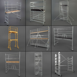 scaffold towers set 3d model