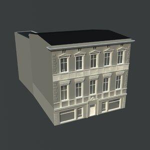 3d european building