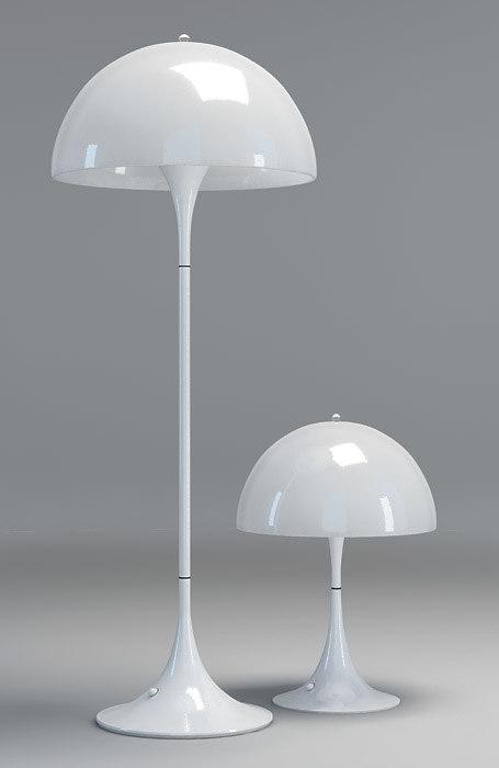 panthella lamps louis poulsen 3d model