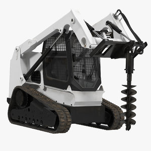 3d compact tracked loader auger