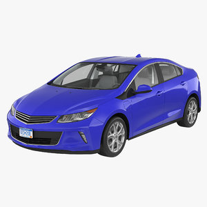3d model of generic hybrid car simple
