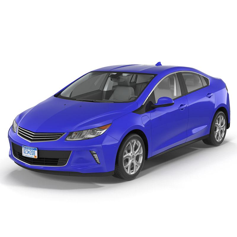 3d model of generic hybrid car simple