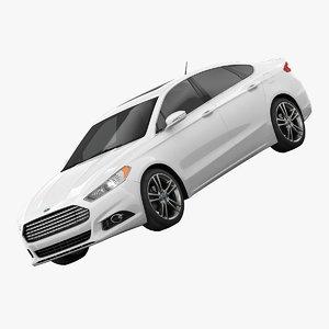3d fusion titanium sedan model