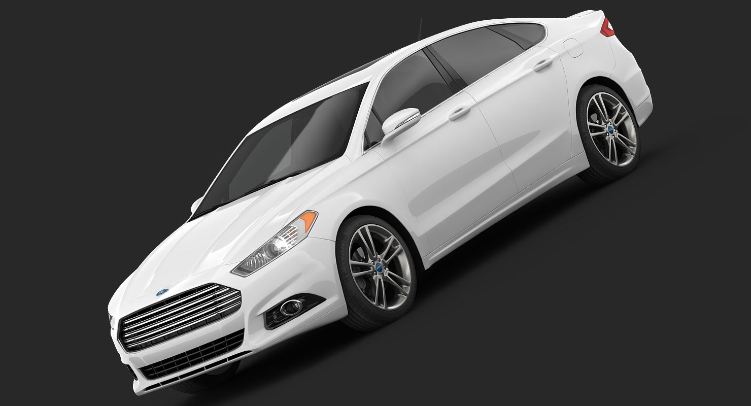 3d fusion titanium sedan model