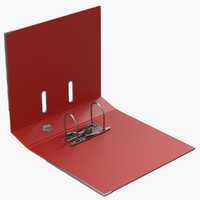3d open ring binder red