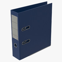 3d model ring binder blue