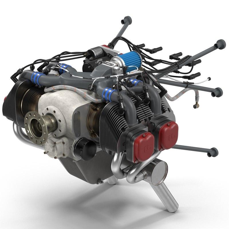 3ds piston aircraft engine ulpower