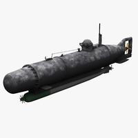 midget submarine hecht 3d model