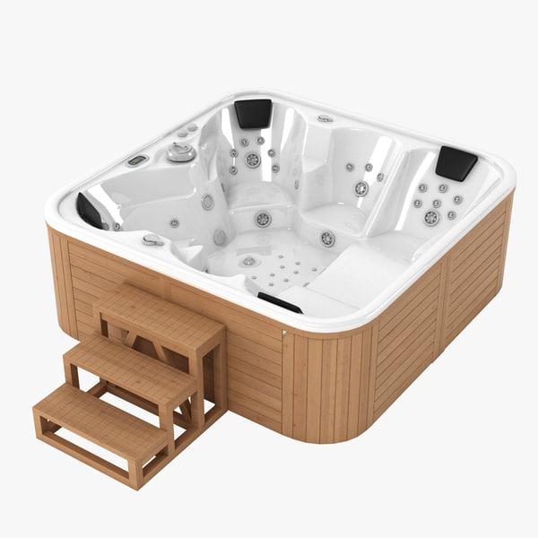 3d model of whirlpool pool