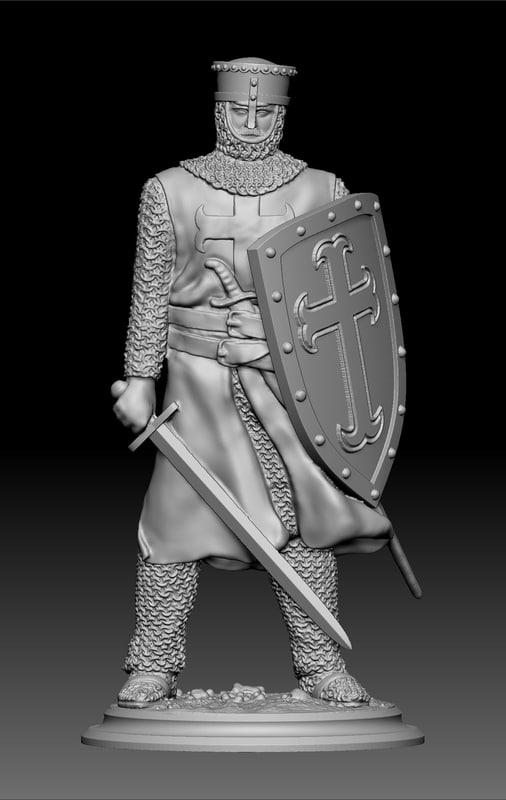 knight crusades 3d obj