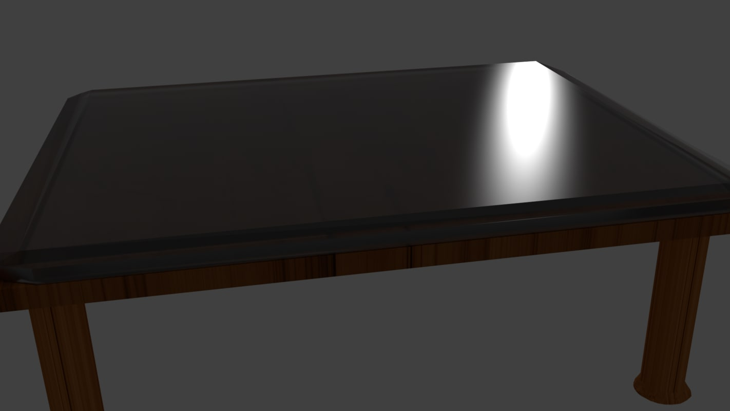 free table glass 3d model