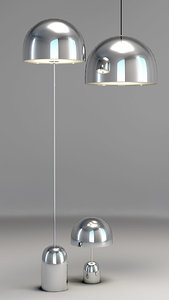 bell lights tom dixon 3d max
