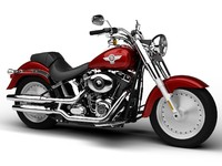 3ds harley-davidson flstf softail fat
