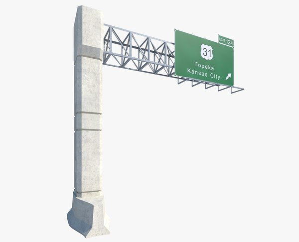 highway sign 3ds