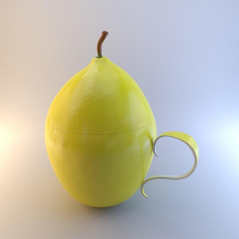 lemon cup 3d max
