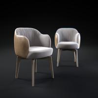 3d model elisa-small-armchair