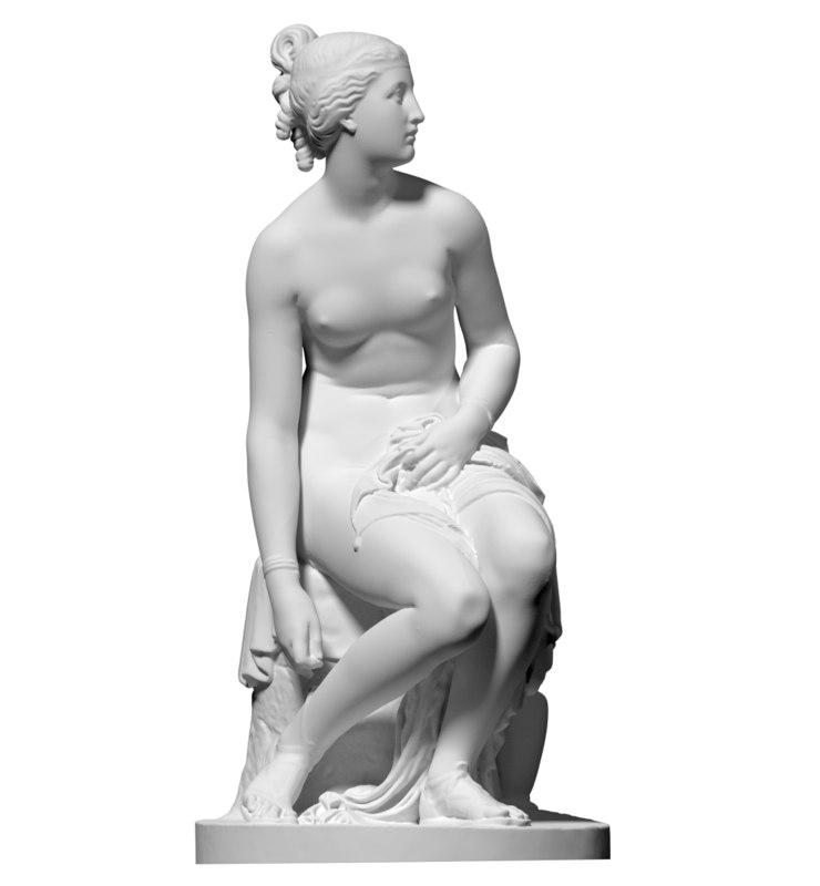 scan statue nymph preparing obj free