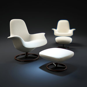 tilt-armchair-with-footrest 3d max