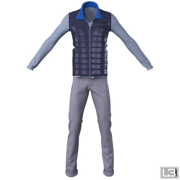 man clothes 3d model