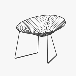 3ds max arper leaf chair