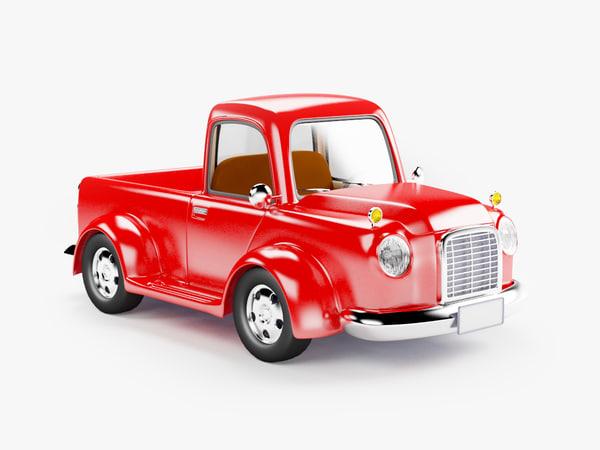 3d model retro truck cartoon