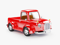 3d model retro truck cartoon