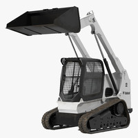 3d bobcat compact tracked loader model