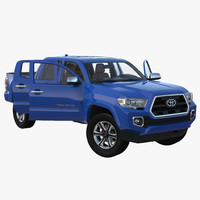 3d model of toyota tacoma 2016 rigged