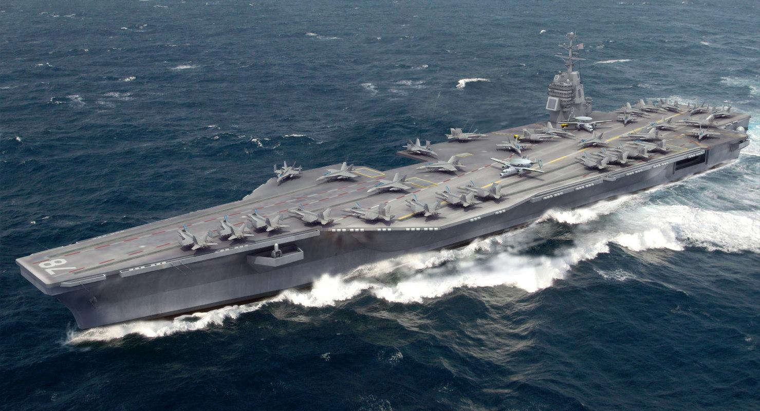 3ds max cvn-78 uss gerald carrier