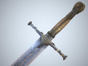 3ds medieval sword