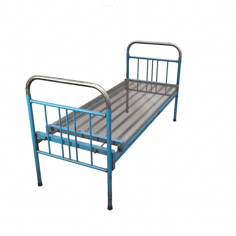 fbx rusty iron bed