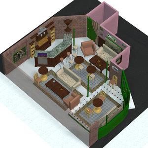 3ds cuppa joe coffee shop