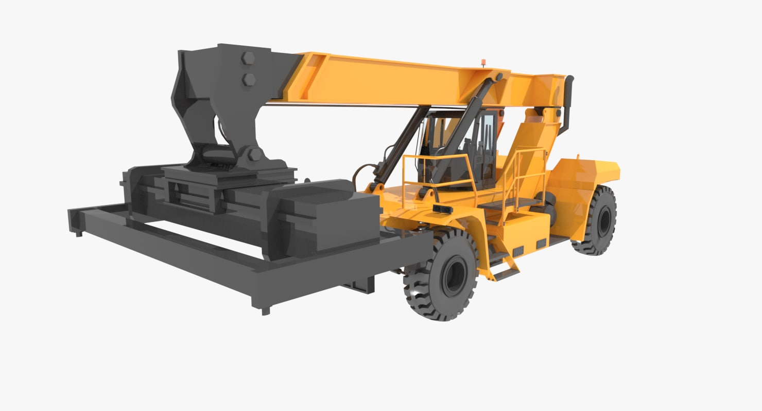 3d reach cargo containers handler model