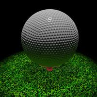 3d golf ball stand model