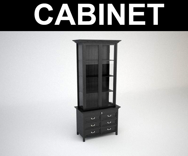 3d model contemporary cabinet