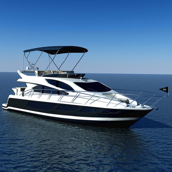 3d model luxary yacht sunseeker manhattan