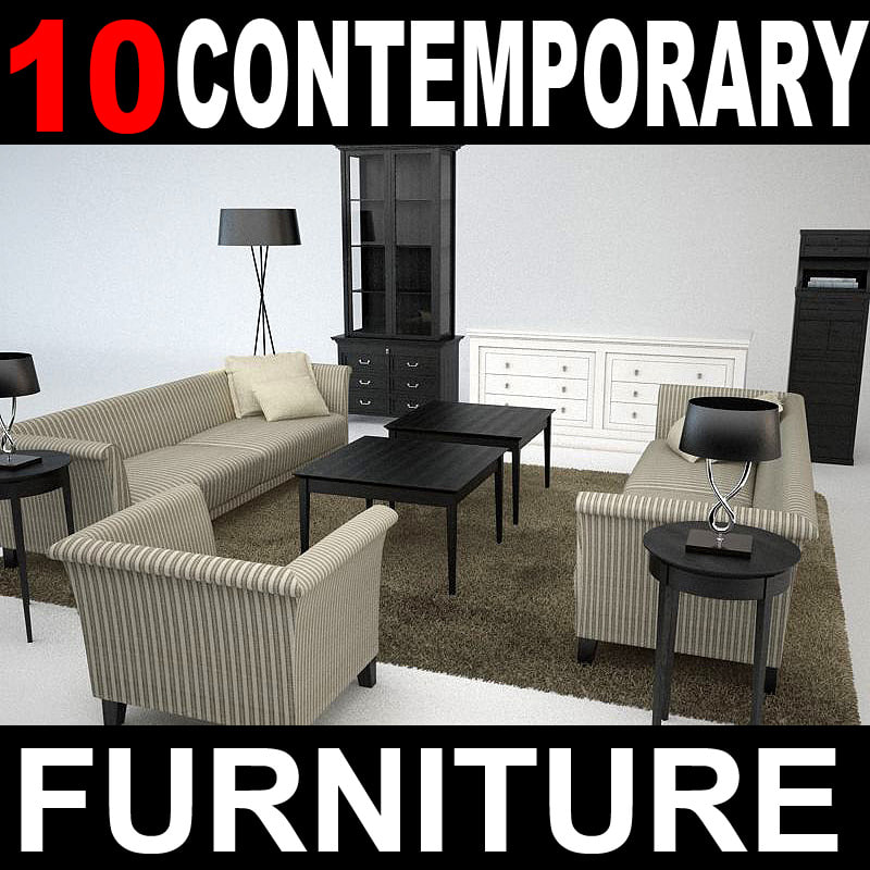 3d obj contemporary furniture sofa lounge chair