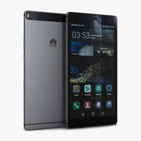 huawei p8 titanium grey 3d model