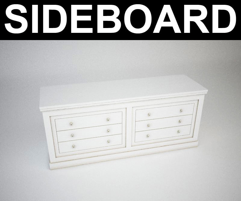 contemporary sideboard 3d model